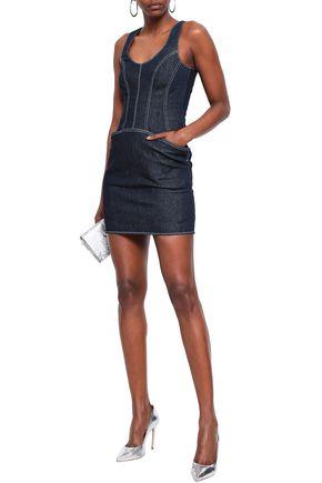 MUGLER Denim mini dress
