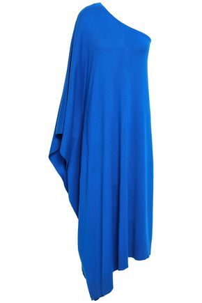 MICHAEL KORS COLLECTION One-shoulder draped cashmere midi dress