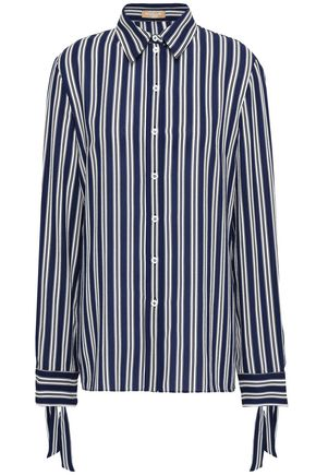 MICHAEL KORS COLLECTION Striped silk-crepe shirt
