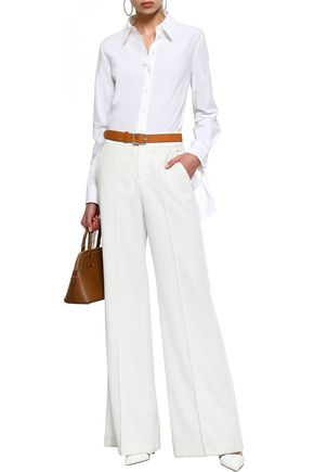 MICHAEL KORS COLLECTION Knotted cotton-poplin shirt