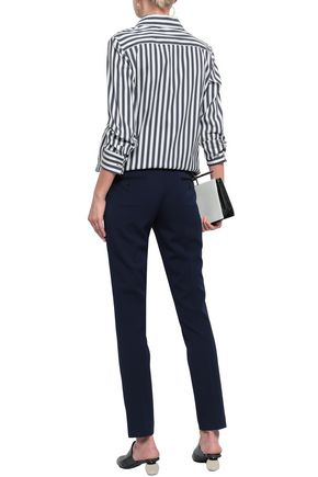 MICHAEL KORS COLLECTION Striped cotton-blend shirt