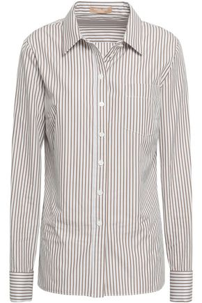MICHAEL KORS COLLECTION Striped cotton shirt