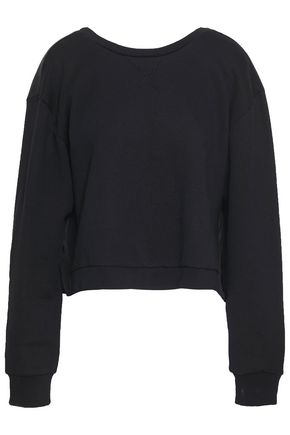 3.1 PHILLIP LIM Gathered poplin-paneled French cotton-terry top
