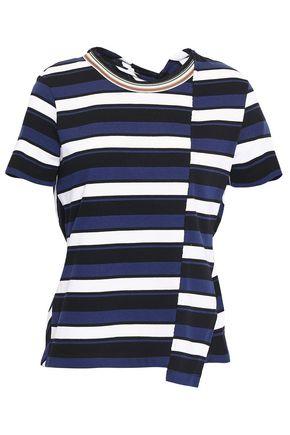 3.1 PHILLIP LIM Cutout striped cotton-jersey T-shirt