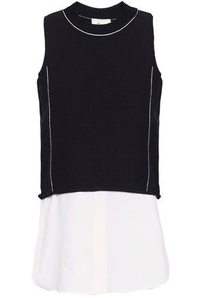 3.1 PHILLIP LIM Layered cotton-blend top