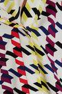 OSCAR DE LA RENTA Pussy-bow printed silk-blend crepe de chine blouse