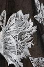 MARCHESA NOTTE Embroidered point d'esprit midi dress