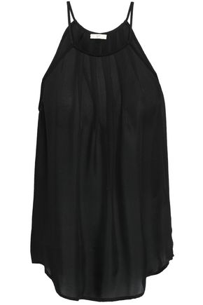 JOIE Pleated silk top