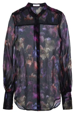 EQUIPMENT Floral-print silk-organza shirt