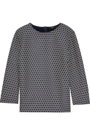 MAX MARA Molo metallic floral-print cotton-blend top