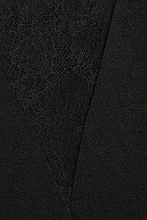 RACHEL ZOE Caine Chantilly lace-paneled satin gown