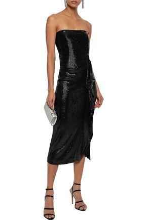 b0eb47eea1e RACHEL ZOE Krista strapless sequined tulle midi dress