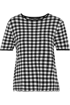 MAX MARA Gingham knitted top