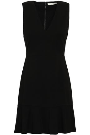 ALICE + OLIVIA Fluted stretch-jersey mini dress