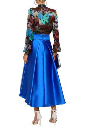 ALICE + OLIVIA Draped fil coupé blouse