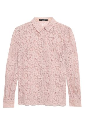 DOLCE & GABBANA Cotton-blend corded lace shirt