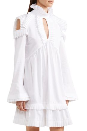 MAGGIE MARILYN Olivia's cutout ruffled cotton-poplin dress