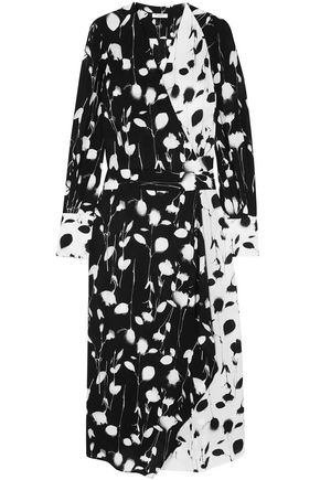 EQUIPMENT Neema wrap-effect printed crepe de chine midi dress