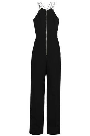 AMANDA WAKELEY Zip-detailed woven jumpsuit