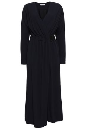 AMANDA WAKELEY Wrap-effect crepe jumpsuit
