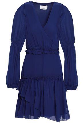 3.1 PHILLIP LIM Wrap-effect ruffle-trimmed silk-chiffon mini dress