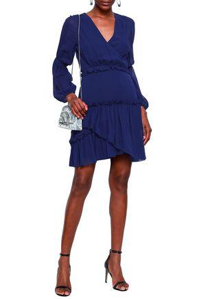 a3ad4e9fc26 3.1 PHILLIP LIM Wrap-effect ruffle-trimmed silk-chiffon mini dress