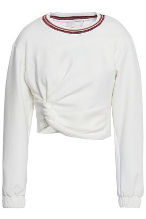 3.1 PHILLIP LIM Cropped twist-front jersey top