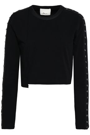 3.1 PHILLIP LIM Cropped button-detailed cotton top