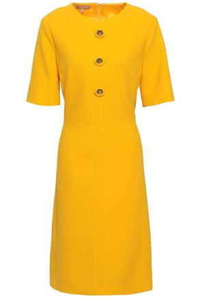 MICHAEL KORS COLLECTION Button-embellished stretch-wool crepe dress