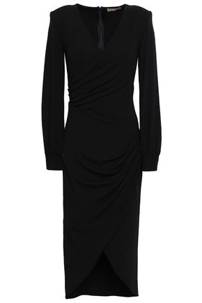 MICHAEL KORS COLLECTION Wrap-effect stretch-crepe dress