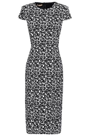 MICHAEL KORS | Michael Kors Collection Cotton-Blend Jacquard Midi Dress | Goxip