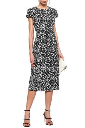 MICHAEL KORS COLLECTION Cotton-blend jacquard midi dress
