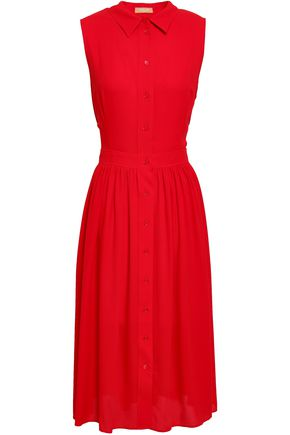 MICHAEL KORS COLLECTION Pleated silk-crepe dress