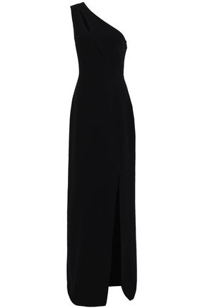 MICHAEL KORS COLLECTION One-shoulder cutout wool-blend crepe gown