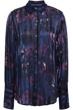 EQUIPMENT Silk-blend jacquard shirt