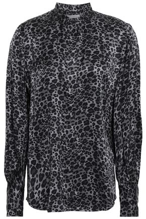 EQUIPMENT Leopard-print silk-satin shirt