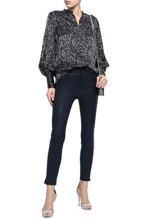EQUIPMENT Leopard-print silk-satin shirt