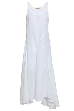 MICHAEL KORS COLLECTION Asymmetric fluted linen midi dress
