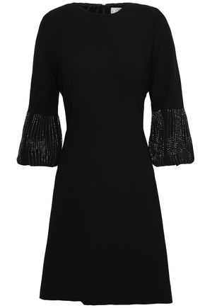 GOAT Gala bead-embellished wool-crepe mini dress