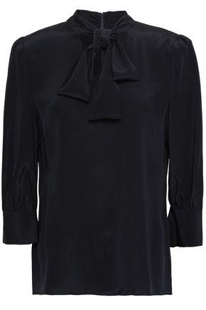 GOAT Pussy-bow silk crepe de chine blouse