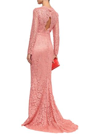DOLCE & GABBANA Cutout corded lace gown
