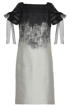 AMANDA WAKELEY Tulle-trimmed dégradé jacquard dress