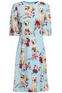 DOLCE & GABBANA Printed crepe dress