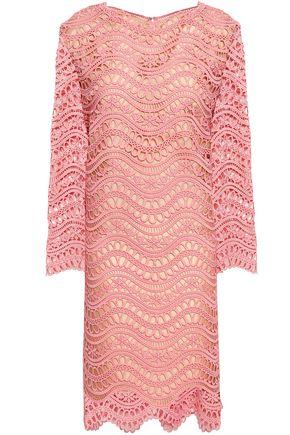 OSCAR DE LA RENTA Guipure lace mini dress