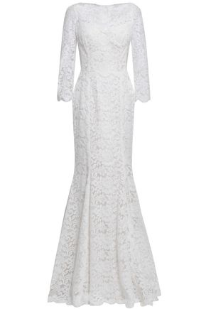 541e0acf78d DOLCE   GABBANA Fluted cotton-blend corded lace gown