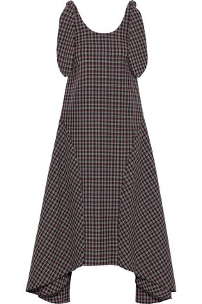 PAPER London Ricki Baker checked wool-blend midi dress