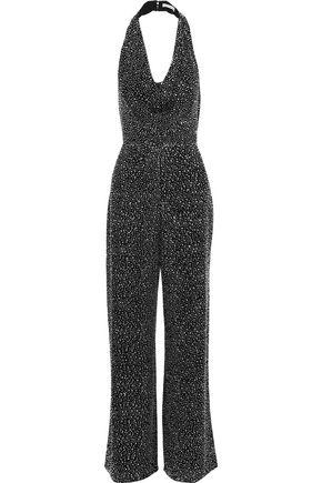 ALICE + OLIVIA Salem crystal-embellished crepe halterneck jumpsuit