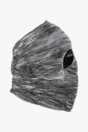 ROSIE ASSOULIN One-shoulder plissé-lamé top