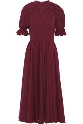EMILIA WICKSTEAD Philly gathered stretch-crepe midi dress