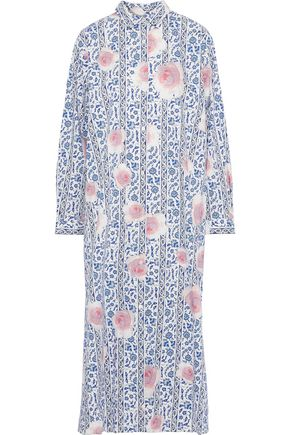 MAX MARA Ruta floral-print cotton-poplin midi shirt dress